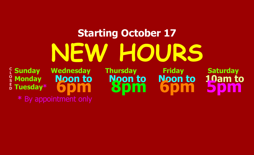 New Hours of Operation